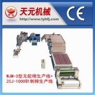 WJ-3 Tipo de algodão plástico + ZJ-1000 linhas de produção acupuntura algodão
